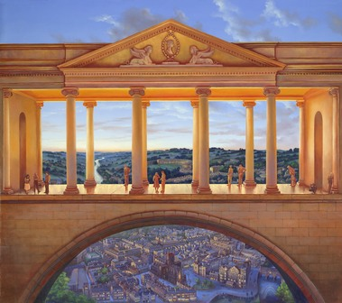 156 The Colonnade Print